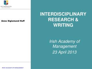 INTERDISCIPLINARY RESEARCH & WRITING