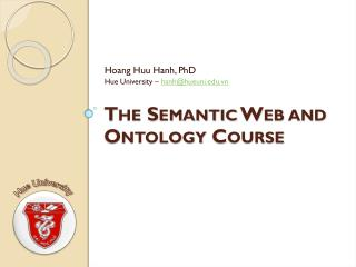 The Semantic Web and Ontology Course