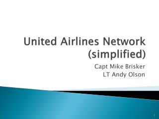 United Airlines Network (simplified)