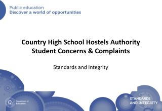 Country High School Hostels Authority Student Concerns & Complaints