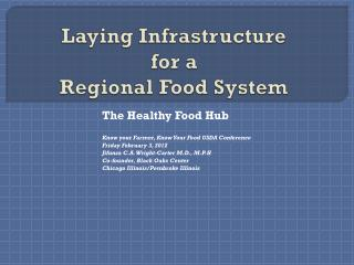 Laying Infrastructure  for a Regional Food System