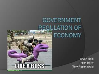 government Regulation of economy