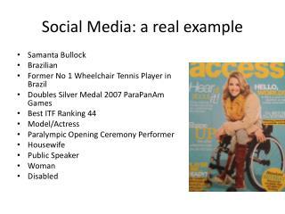 Social Media: a real example