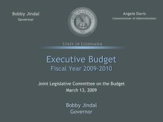 Executive Budget Fiscal Year 2009-2010