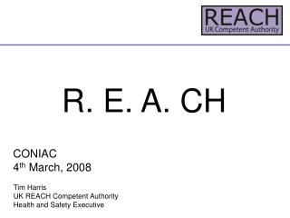 R. E. A. CH CONIAC 4 th  March, 2008