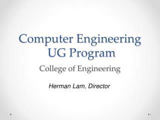 Computer Engineering UG Program d College of Engineering