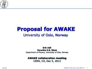 Proposal for AWAKE