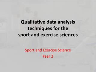 Qualitative data analysis techniques for the sport and exercise sciences