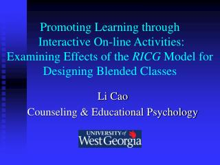 Li Cao Counseling & Educational Psychology