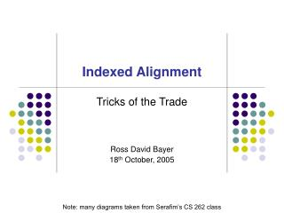 Indexed Alignment