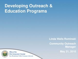 Developing Outreach & Education Programs