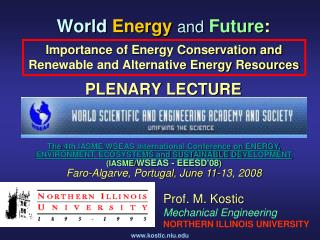 World  Energy and  Future : PLENARY LECTURE