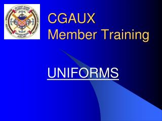 CGAUX  Member Training
