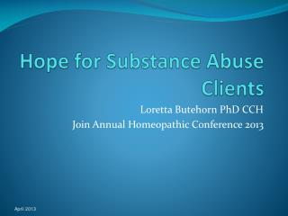 Hope for Substance Abuse Clients