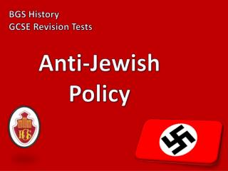 Anti-Jewish Policy