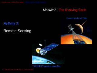 Module 8:   The Evolving Earth