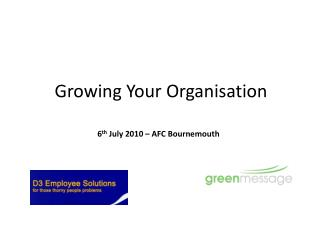 Growing Your Organisation