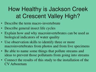 How Healthy is Jackson Creek at Crescent Valley High?