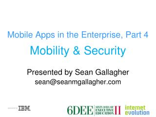 Mobile Apps in the Enterprise, Part 4