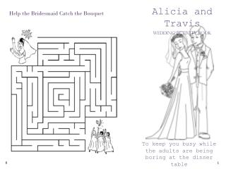 Alicia and Travis Wedding Activity Book