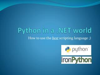 Python in a .NET world