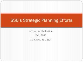 SSU's Strategic Planning Efforts