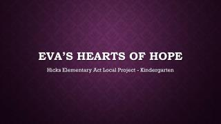 Eva's Hearts Of Hope