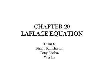 CHAPTER 20 LAPLACE  EQUATION
