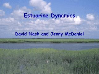 Estuarine Dynamics David Nash and Jenny McDaniel