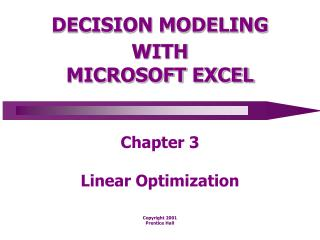 DECISION MODELING