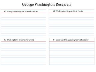 George Washington Research