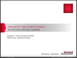 Advanced PLC Topics for Micro  Controllers