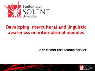 Developing intercultural and linguistic awareness on international modules
