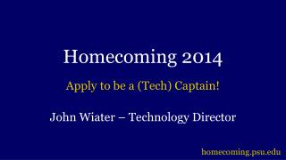 Homecoming 2014