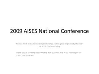 2009 AISES National Conference