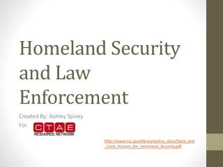 Homeland Security and Law Enforcement