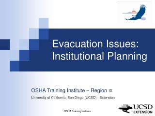 Evacuation Issues: Institutional Planning