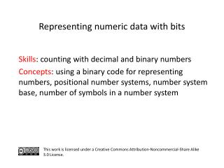 S kills : counting with decimal and binary numbers