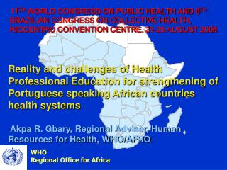 WHO Regional Office for Africa