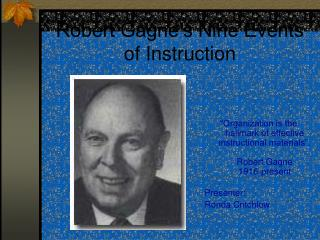Robert Gagne's Nine Events of Instruction