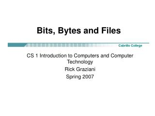 Bits, Bytes and Files