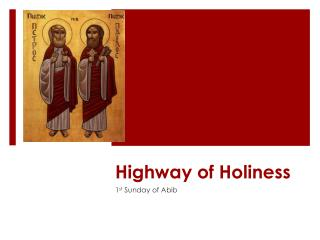 Highway of Holiness