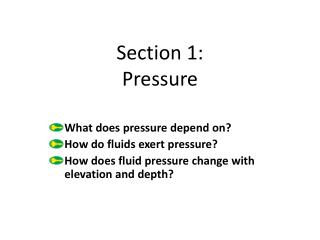 Section 1: Pressure