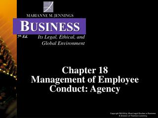Chapter 18 Management of Employee Conduct: Agency