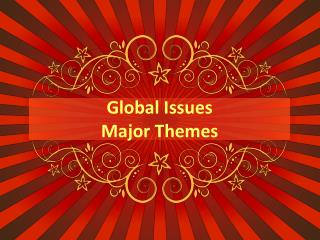Global Issues  Major Themes