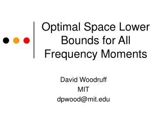 Optimal Space Lower Bounds for All Frequency Moments