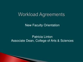 Workload Agreements