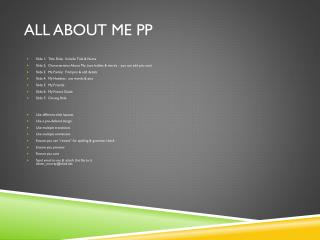 All About Me PP