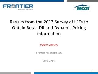 Public Summary Frontier Associates LLC June 2014