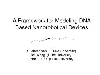 A Framework for Modeling DNA Based Nanorobotical Devices